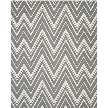 Safavieh Helen Cambridge Wool Pile Area Rug, Dark Gray/Ivory, 9' x 12'