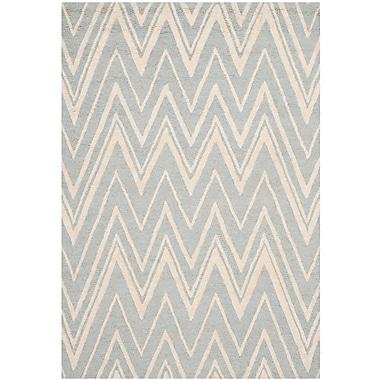 Safavieh Helen Cambridge Wool Pile Area Rug, Gray/Ivory, 5' x 8'