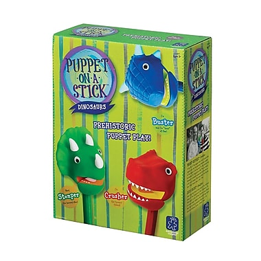 Educational Insights® Dinosaur Puppet-On-A-Stick, 3/Set