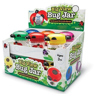 Learning Resources® Primary Science Big View Bug Jar, 12/Set