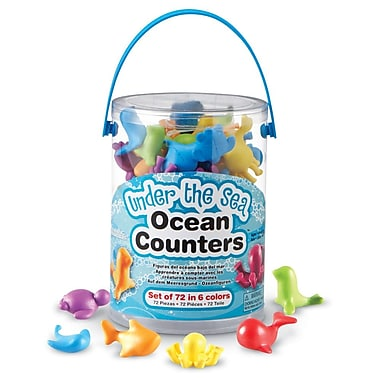 Learning Resources® Under The Sea Ocean Counters, 72/Set