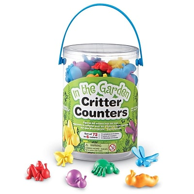 Learning Resources In the Garden Critter Counter, 72/Set 1235089