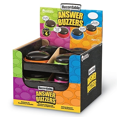 Learning Resources® Recordable Answer Buzzers, 12/Set