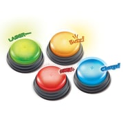 Learning Resources® Lights and Sounds Buzzers, 4/Set