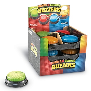 Learning Resources® Lights and Sounds Buzzers, 12/Set