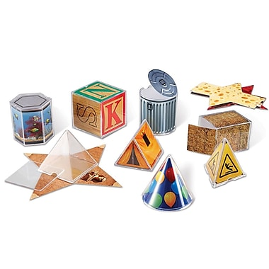 Learning Resources® Real World Folding Geometric Shape, 8/Set