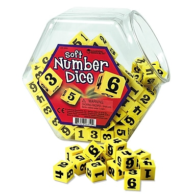 Learning Resources® Hands-On Soft™ Number Dice, 200/Set