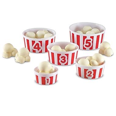 Learning Resources® Smart Snacks® Count 'em Up Popcorn™ Cup Set, 5/Set