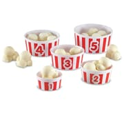 Learning Resources® Smart Snacks® Count 'em Up Popcorn™ Cup Set, 5/Set