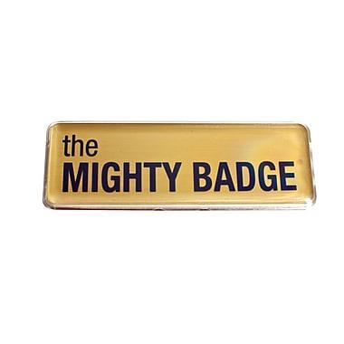 The Mighty Badge Name Badge Kit Laser Gold Starter Kit, 1