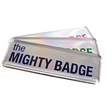 The Mighty Badge Name Badge Kit Inkjet Silver Starter Kit, 1