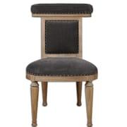 Uttermost Tyrah Wood/Fabric/Foam/Fiber Accent Chair, Brown/Black