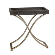 Uttermost Valli 27 x 26 x 15 Wood Accent Table, Champagne/Ebony