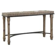 """Uttermost Tehama 32"""" x 55"""" x 18"""" Burnished Natural Fir Wood Console Table, Aged Black/Light Dusty"""