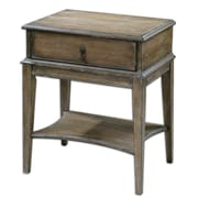"Uttermost Hanford 27"" x 22"" x 16"" Wood/MDF Accent Table, Weathered Pine"