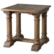 Uttermost Saturia 28 x 28 x 28 Reclaimed Fir Wood End Table, Natural