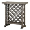Uttermost Annileise 32in. x 32in. x 14in. Poplar Wood Wine Table, Weathered Charcoal