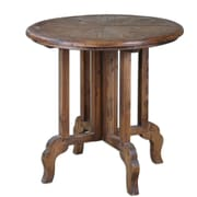 Uttermost Imber 31 x 32 x 32 Reclaimed Fir Wood Accent Table, Natural Grain