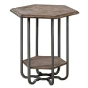 "Uttermost Mayson 26"" x 25"" x 22"" Fir Wood Accent Table, Brown"