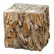 Uttermost Teak Root Reclaimed Wood Bunching Cube Table, Natural
