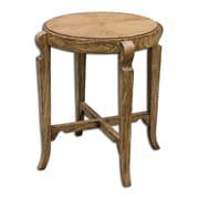 Uttermost Bandi 27 x 24 x 24 Mindi Wood Accent Table, Brown