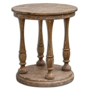 Uttermost Bardeau 32 x 27 x 27 Mango Wood Accent Table, Brown