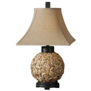 Uttermost Calameae 29 Table Lamp, Natural/Aged Black