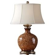 """Uttermost Serpiente 29"""" Table Lamp, Rust Brown/Black"""