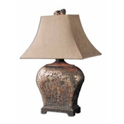 """Uttermost Xander 27"""" Table Lamp, Silver Leaf"""