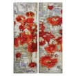 Uttermost Constance Lael-Linyard 2-Piece Scarlet Poppies Floral Wall Art