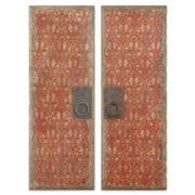 Uttermost Billy Moon 2-Piece Red Doors Panel