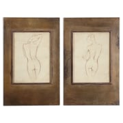 Uttermost Grace Feyock 2-Piece Bronze Figures Wall Art