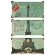 Uttermost 3-Piece Eiffel Tower Carte Postal Art