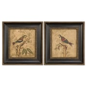 Uttermost Grace Feyock 2-Piece Colorful Birds On Branch Wall Art