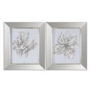 Uttermost Grace Feyock 2-Piece Silvery Blue Tulips in Mirrored Framed Wall Art