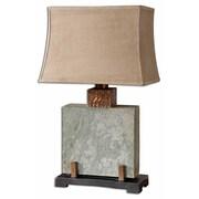 Uttermost Slate 29 Square Table Lamp, Slate