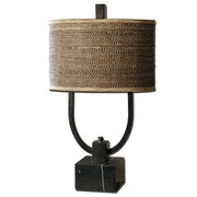 "Uttermost Stabina 30"" Table Lamp, Rustic Bronze/Black"