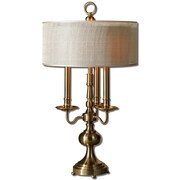 Uttermost Santina 30 Table Lamp, Antiqued Brushed Brass