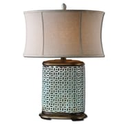 Uttermost Rosignano 30 Table Lamp, Crackled Aged Blue