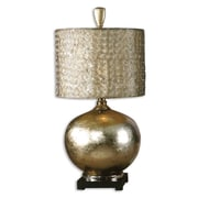 """Uttermost Julian 32"""" Table Lamp, Antiqued Silver/Champagne"""