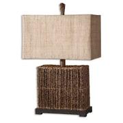 "Uttermost Barbuda 27"" Table Lamp, Natural/Rustic Bronze"