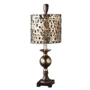 "Uttermost Alita Champagne 32"" Buffet Table Lamp, Antiqued Cast Aluminum"