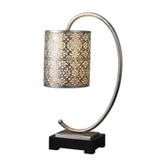 Uttermost Faleria 24 Buffet Table Lamp, Antiqued Silver
