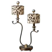 Uttermost Malawi 26 End Accent Table Lamp, Antiqued Silver