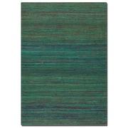 Uttermost Nivi Hand Woven Viscose Rug, 8' x 10', Green/Blue/Burnt Orange/Red