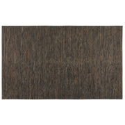 Uttermost Culver Hand Woven Rescued Leather/Jute Rug, 5' x 8', Dark Brown/Rust Gray/Natural