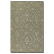 Uttermost Geneva Hand Tufted Wool Rug, 5' x 8', Laurel Green/Silver/Taupe