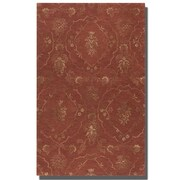 Uttermost Geneva Hand Tufted Wool Rug, 5' x 8', Crimson/Green/Olive/Taupe