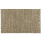 Uttermost Tobais Hand Woven Rescued Leather/Hemp Rug, 5' x 8', Beige/Gray