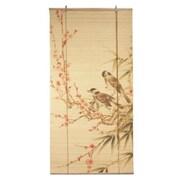 Oriental Furniture Love Birds Bamboo Roller Blind; 36'' W x 72'' L